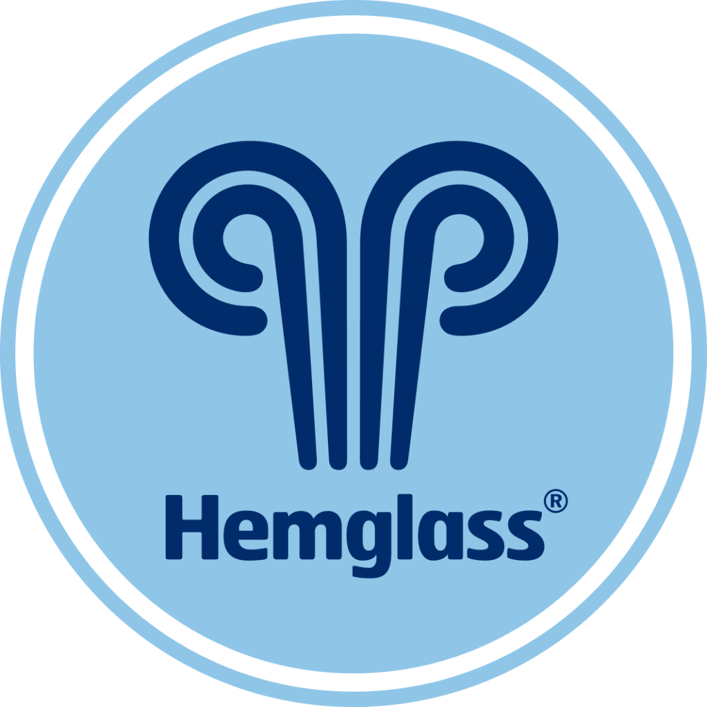 Hemglass logotyp